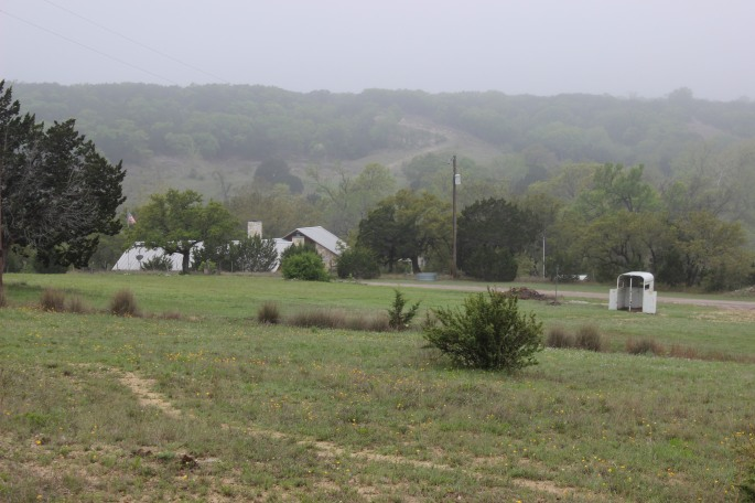 A view of the top of the ranch from across the road.