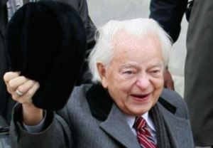 Senator Byrd on the campaign trail during his 133rd reelection bid.
